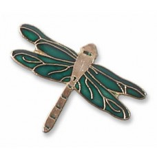 Dragonfly, Green Damer pin