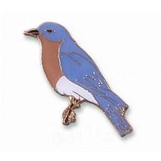 Bluebird, Eastern, enameled pin