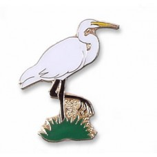 Egret, Great pin