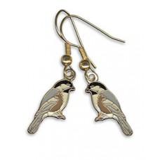 Chickadee, Black-capped earrings