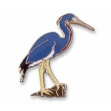 Heron, Tricolored pin
