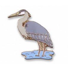 Heron, Great Blue pin