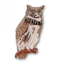 Owl, Great Horned pin