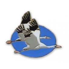 Crane, Whooping (2 in flight) pin