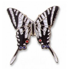 Butterfly, Zebra Swallowtail, enameled pin