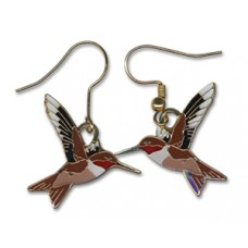 Hummingbird, Rufous earrings