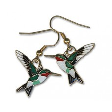 Hummingbird, Ruby-throated earrings