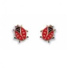 Lady Bug earrings (on posts)